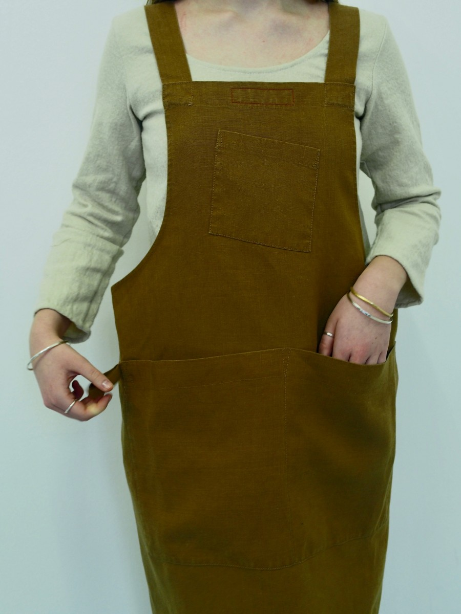 Cross Back Apron By Scobel Clothing